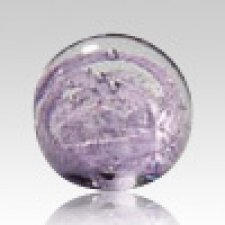 Purple Perpetual Glass Keepsake