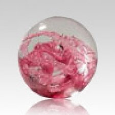 Red Perpetual Glass Keepsake