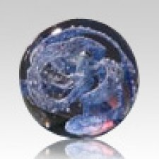 Blue Perpetual Glass Keepsake