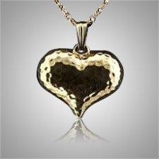 Heart Hammered Keepsake Pendant