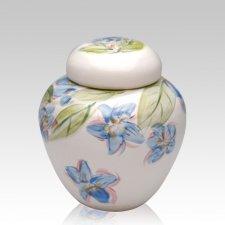 Blue Dogwood Medium Cremation Urn
