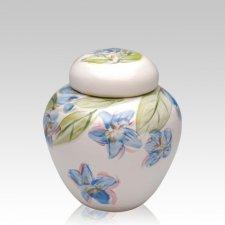 Blue Dogwood Small Cremation Urn