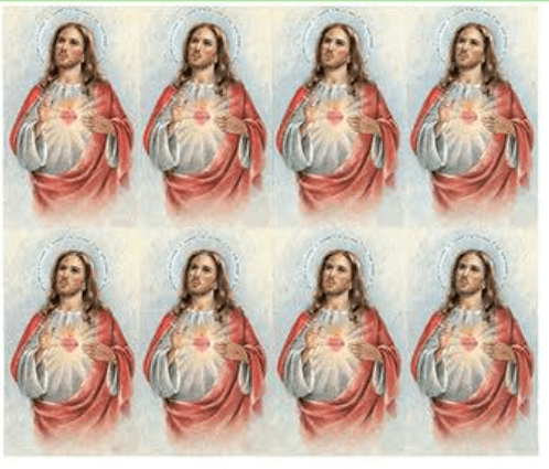 Heart Of Jesus Prayer Cards