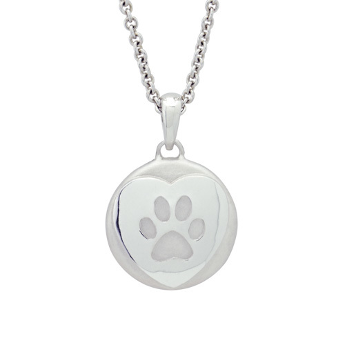 Heartfelt Paw Sterling Cremation Pendant