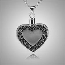 Heart Antique Border Keepsake Pendant