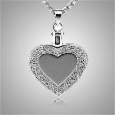 Heart with Border Keepsake Pendant