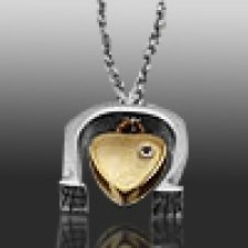 Horseshoe Heart Keepsake Pendant
