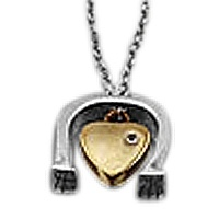 Horseshoe Heart Keepsake Pendant