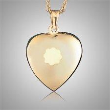 Heart with Flower Keepsake Jewelry
