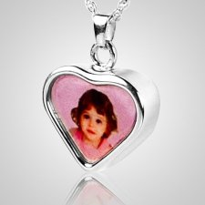 Heart Picture Cremation Pendant