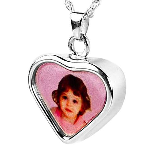 Heart Picture Cremation Pendant III