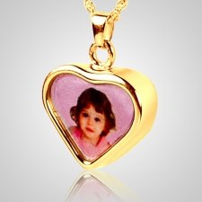 Heart Picture Cremation Pendant IV