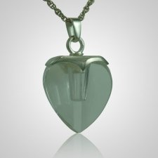 Glass Heart Memorial Jewelry