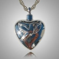 Dove Heart Cremation Jewelry
