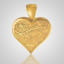 Heart Finger 14k Yellow Gold Print Keepsake