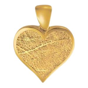 Heart Finger 14k Yellow Gold Print Keepsake
