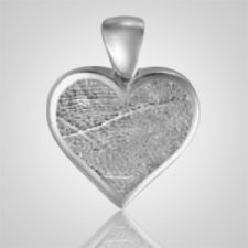 Heart Finger 14k White Gold Print Keepsake