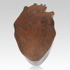 Anatomy Heart Copper Cremation Urn