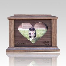 Center Heart Picture Cremation Urn - Medium