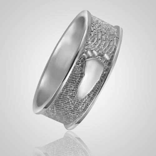 Heirloom Ring Foot Print 14k White Gold Keepsakes