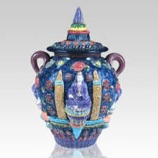Hindu Ceramic Cremation Urn