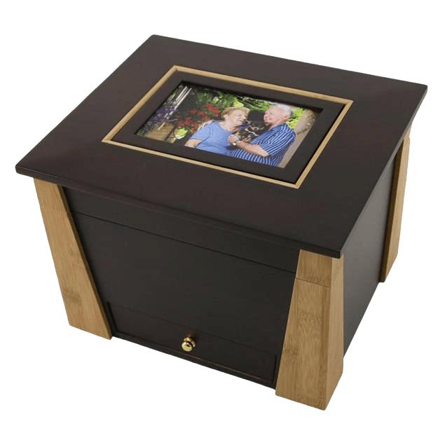 Hinged Photo Cremation Urn