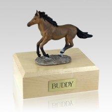 Bay Running Horse Cremation Urns
