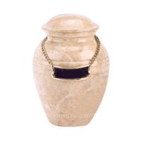 Cream Marble Child Cremation Urn