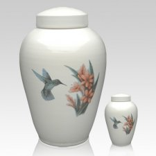 Hummingbird Ceramic Cremation Urns