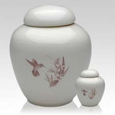 Peaceful Hummingbirds Cremation Urns