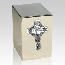 Police Silver Cremation Urn
