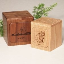 Imperial Oak Small Pet Urn