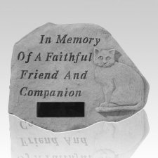 Cat Friend Memorial Grave Stone