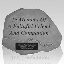Dog Friend Memorial Grave Stone