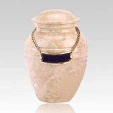 Cream Pet Marble Cremation Urns
