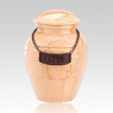 Teakwood Pet Marble Cremation Urns