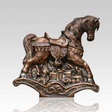 Rocking Horse Children Cremation Urn