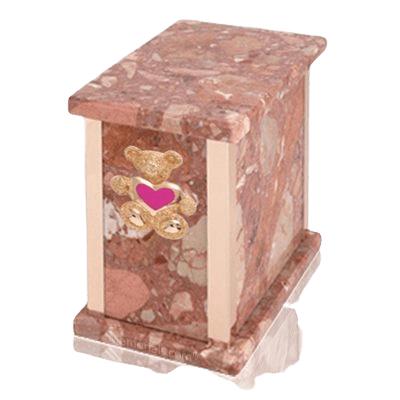 Design Pernice Teddy Pink Heart Marble Urn