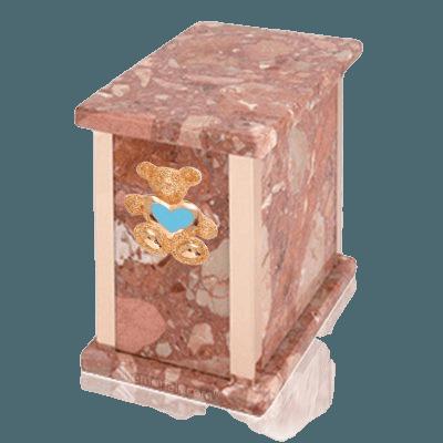 Design Pernice Teddy Blue Heart Marble Urn