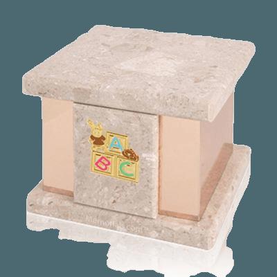 Infinita Perlato ABC Bunny Marble Urn