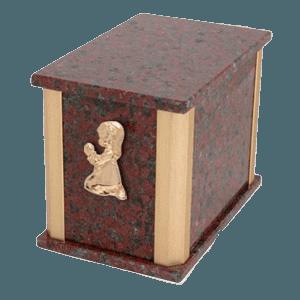 Solitude African Red Praying Girl Cremation Urn