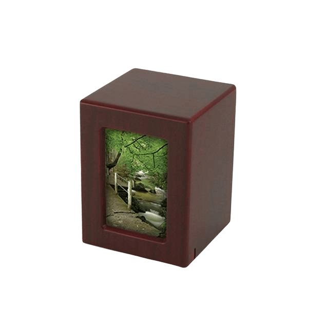 Cherry Infinity Keepsake Photo Wood Urn