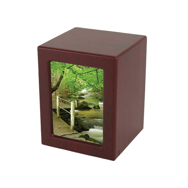 Cherry Infinity Medium Photo Wood Urn