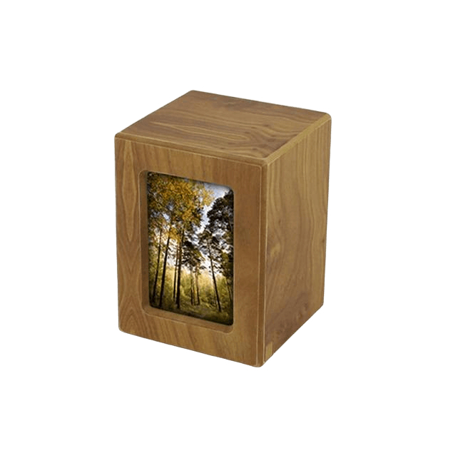 Natural Infinity Keepsake Photo Wood Urn