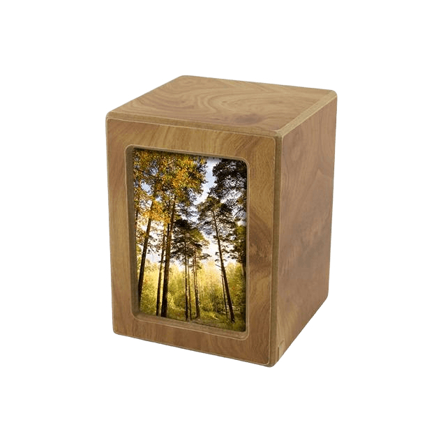 Natural Infinity Small Photo Wood Urn
