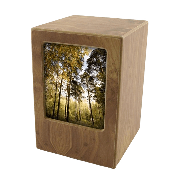 Natural Infinity Large Photo Wood Urn