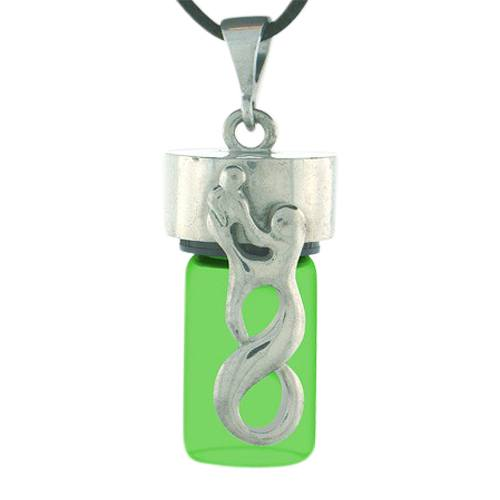 Infinity Green Cremation Necklace