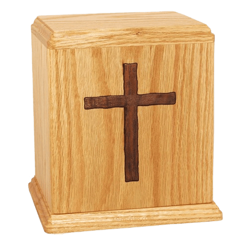 Inlay Cross Cremation Urn