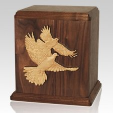 Doves Wood Cremation Urn