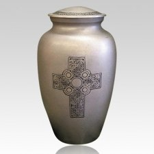 Irish Cross Brass Cremation Urn
